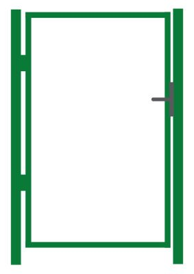 Jalgvärava raam, roheline -  laiusega 1 m - kõrgusega 1 m