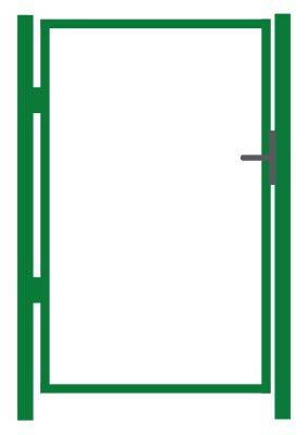 Jalgvärava raam, roheline - laiusega 1m - kõrgusega 1,25 m