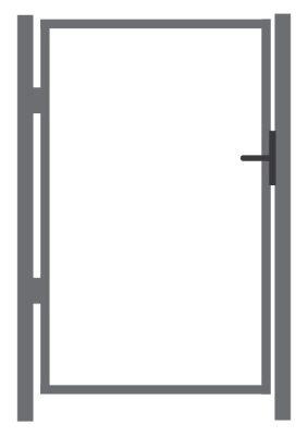 Jalgvärava raam ZN  - laiusega 1 m - kõrgusega 1 m