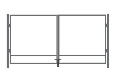 Autovärava raam ZN - laiusega 4 m - kõrgusega 1,25 m