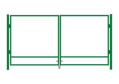 Autovärava raam, roheline - laiusega 4 m - kõrgusega 1,5 m