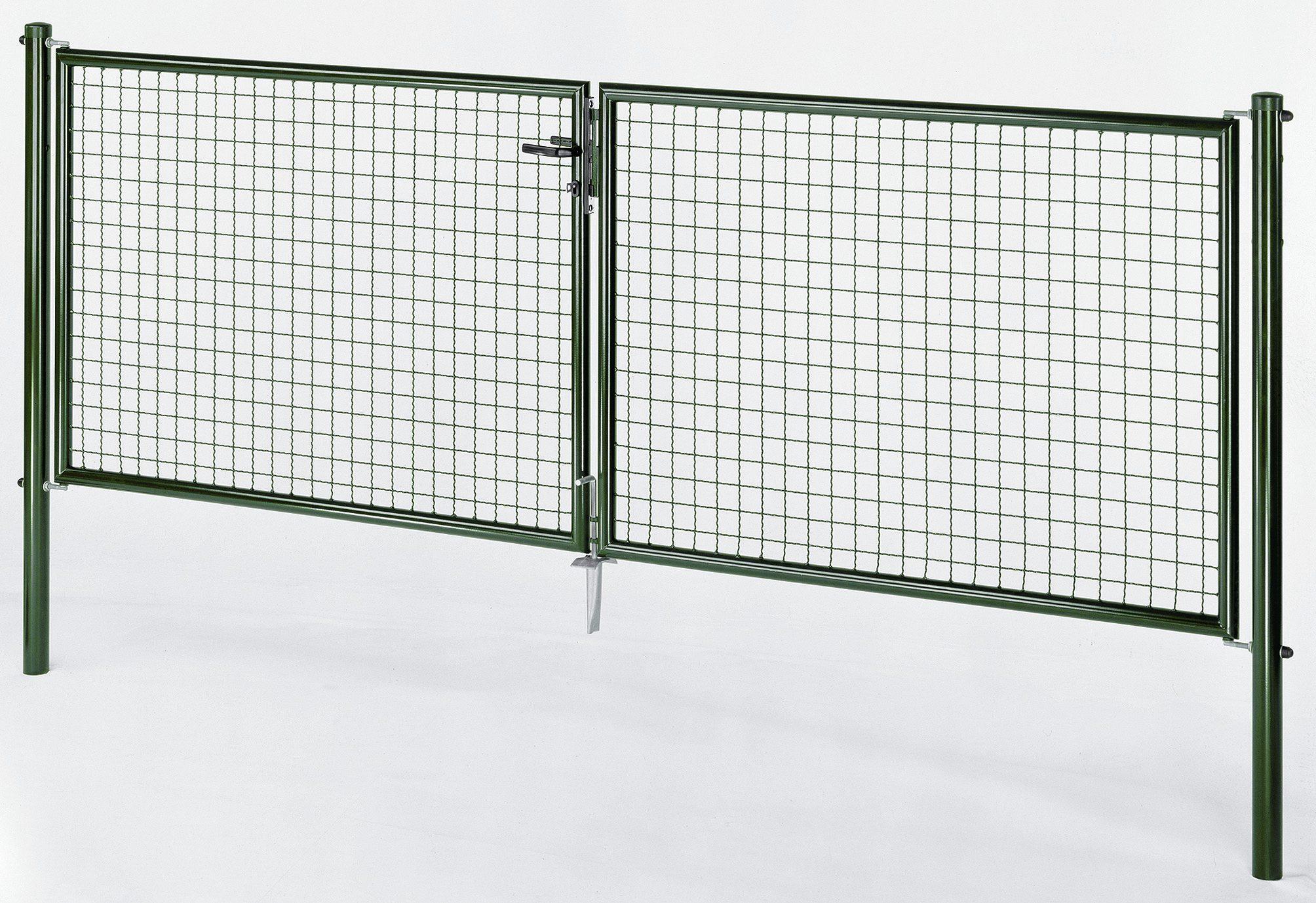 Autovärav roheline - laiusega 4 m - kõrgusega 1 m
