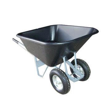 Aiakäru kahe rattaga, plast must