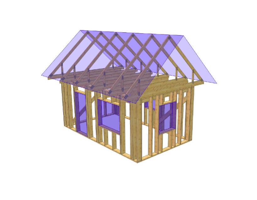 Sauna või muu abihoone puitkarkass-2, 19,7 m2