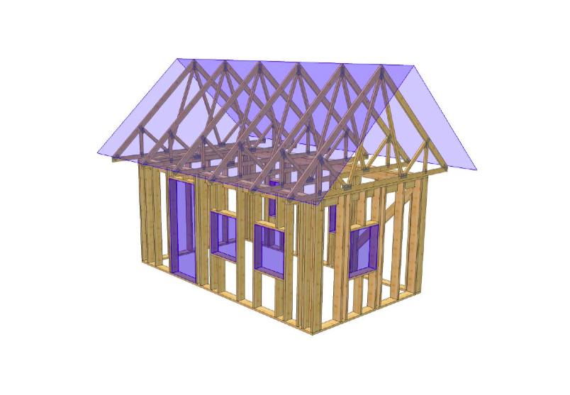 Sauna või muu abihoone puitkarkass 19,7 m2