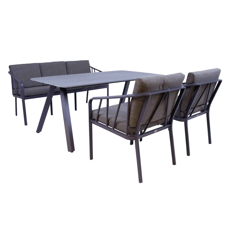 Komplekt KAHLA laud, diivan ja 2 tooli