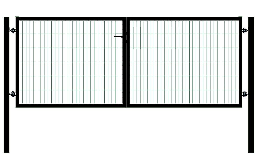 Autovärav STRONG hall RAL7016 - laiusega 4 m - kõrgusega 0,95 m